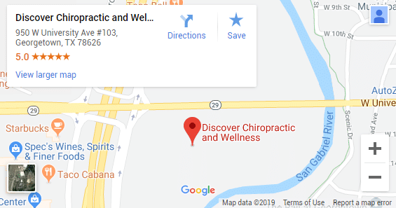 Georgetown TX Chiropractic Map